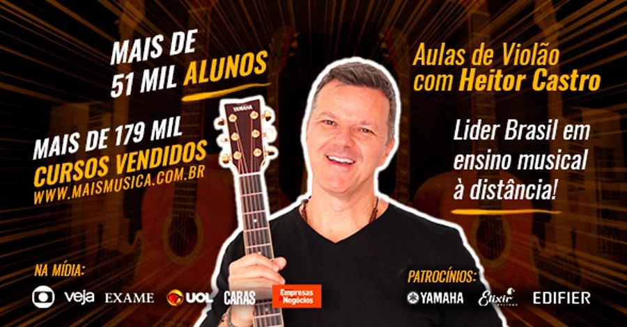 Método Tríade De Heitor Castro: toque violão fácil