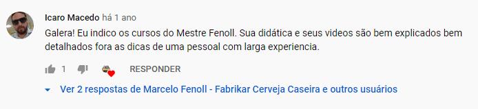 Depoimentos de alunos curso Marcelo Fenoll
