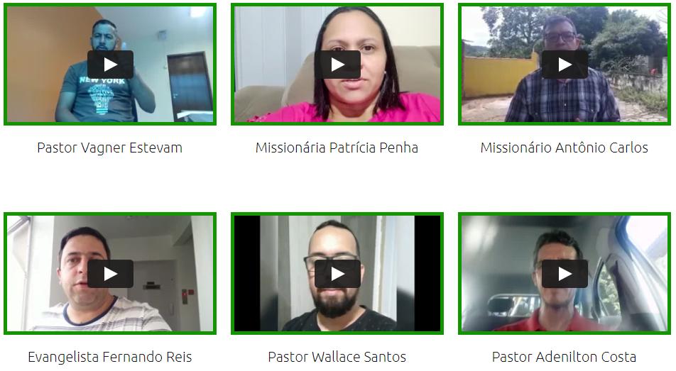 Depoimentos em vídeo manual completo pregador vocacionado