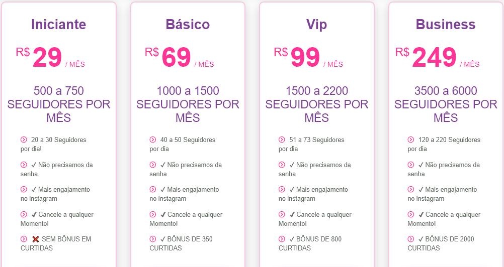 Planos e preços AgenciaGRam